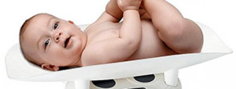 Biểu đồ tăng cân của trẻ sơ sinh